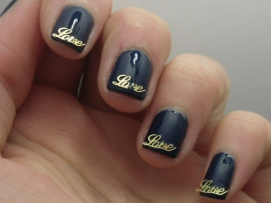 China Glaze First Mate withe Love Charms